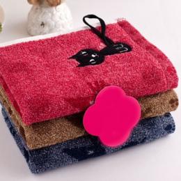 1 Pc Ładny Kotek Wzór Druku Bawełna Miękkie Dziecko-Ręcznik Gospodarstwa Domowego Ręcznik Do Twarzy