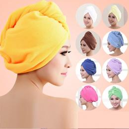 Kobiety Łazienka Super Chłonne szybkoschnący Ręcznik Kąpielowy Z Mikrofibry Włosy Suche Cap Ręcznik Salon