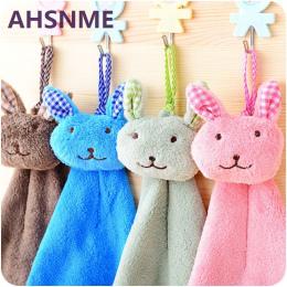AHSNME królik kreskówka obrazu chusteczka różnych kolorach Koral materiału kaszmiru uroczy projektowe dzieci mały ręcznik 21*42