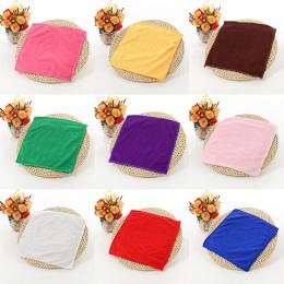 1 sztuk 25*25 cm Jednolity Kolor Miękkie Placu Ręcznik Do Czyszczenia Samochodu Z Mikrofibry Do Włosów Ręcznie Łazienka Ręczniki