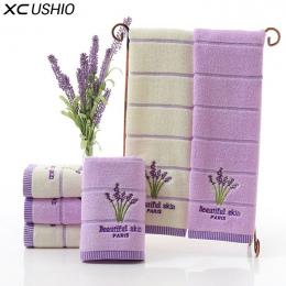 XC USHIO Jeden Kawałek Wysokiej Jakości 100% Bawełna 34*75 cm Lawendy Ręcznik Do Twarzy Miękkie Chłonne Romatic Miłośników Ręczn