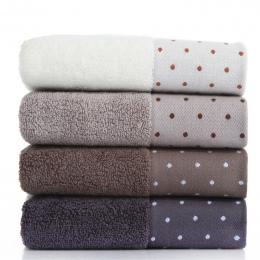 34x72 cm 100% Bawełna Chłonne Dot Wzór Jednolity Kolor Miękkie Wygodne Mężczyźni Kobiety Łazienka Podróży Ręcznie Ręcznik Do Twa