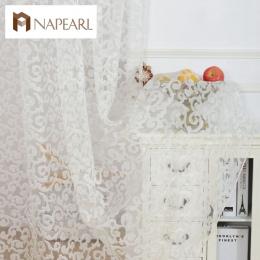 NAPEARL styl Europejski projekt żakardowe dekoracja wnętrz nowoczesne zasłony tiulu tkaniny organza sheer panel leczenia okna bi