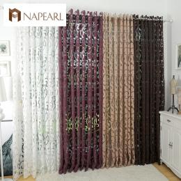 Luxury fashion style semi-blackout zasłony kuchenne tkaniny żakardowe zasłony pokój dzienny salon kurtyny panel drzwi