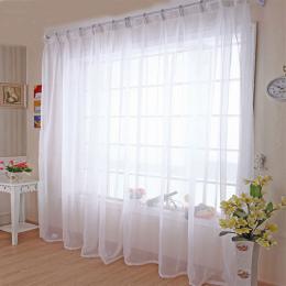 Kuchnia Tulle Zasłony Okna Translucidus Modern Home Dekoracje Biały Sheer Voile Zasłony do Salonu Pojedynczy Panel B502
