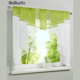 Moda Plisowane Projekt Szwy Kolory Tulle Balkon Kuchnia Zasłony Okna Jeden Zestaw