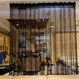 Zroszony Kurtyny Ciąg Drzwi Okno Panelu Pokojowego Glitter Crystal Ball Tassel String Linia Drzwi Okno Zasłony Pokoju Dzielnik D