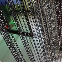 Urijk 1 pc Srebrny Silk Tassel Okno Rury Zasłony do Salonu Dzielnik Kurtyny Valance Kuchnia Drzwi Koreański Styl Zasłony