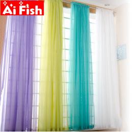 Europejski i Amerykański styl białe Okno Przesiewowe Stałe Drzwi Zasłony Zasłona Panelowa Sheer Tulle Dla Salon AP184 #3 -40