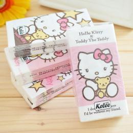 Kreatywnych Kreskówka Nowością Mody Hello Kitty Miękkie Panie Dziewczyny Jednorazowe Papieru Serwetka Chusteczka AV