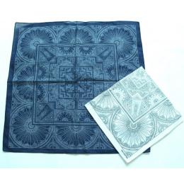 Geometryczne Linellae Bandany Cotton Niebieski Biały Mężczyźni Chusteczka Kieszonkowy Plac Panie Pałąk Głowę SUJASANMY TJ9039