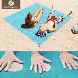 Naturelife Piasek Darmo Mata Plażowa Przenośne Blue beach mat antypoślizgowe Maty Dywan Zewnątrz mata na Plaży Piasku wsparcie d