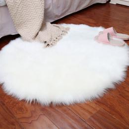 Miękkie Sztuczne Kożuch Dywan Krzesło Pokrywa Sypialnia Mat Sztucznej Wełny Ciepłe Owłosione Dywan Siedzenia Textil Futro Dywany