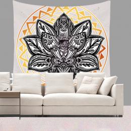 Smiry 130X150 cm Krótki Pluszowe Gobelin Mandala Czechy Ścianie Wisi Zwierząt Księżyc Wilk Pistolety Maty Do Jogi Ręcznik Plażow