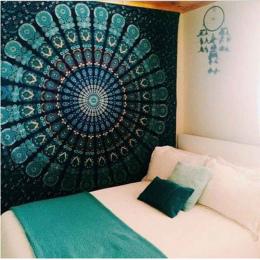 Indian Mandala Gobelin Ściany Wiszące Piaszczysta Plaża Rzut Dywan Koc Namiot Camping Podróży Materac Do Spania Pad Mandala Tape