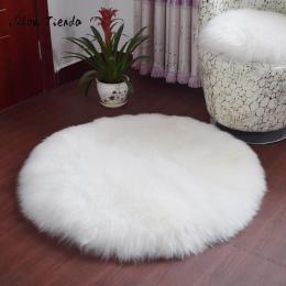 Miękkie Kożuch Dywan Krzesło Pokrywa Sztucznej Wełny Ciepły Włochaty Dywan Sypialni Mata Siedzenia Pad Skóra Futro Dywany Obszar