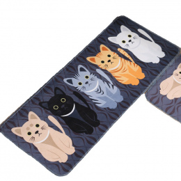 Kawaii Zapraszamy Maty Podłogowe Zwierząt Kot Drukowane Łazienka Kuchnia Dywany Wycieraczki Kot Mata Podłogowa dla Salon Anti-Sl