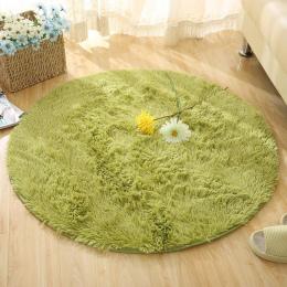 Puszyste okrągły kilim dywan dywany dla salon faux futro carpet dzieci Pokój Długi Pluszowe Obszar Dywan Shaggy dywany dla sypia