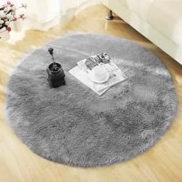 Puszyste Okrągły Dywan Dywany dla Living Room Decor Faux Fur Dywan dzieci Pokój Długi Pluszowe Obszar Dywan Shaggy Dywany dla Sy