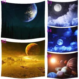 Comwarm Fantazyjne Kreskówki Księżyc Cosmos Odkrywania Poliester Gobelin Dzieci Sypialnia Ścianie Wisi Gobelin Pościel Pokrywa H
