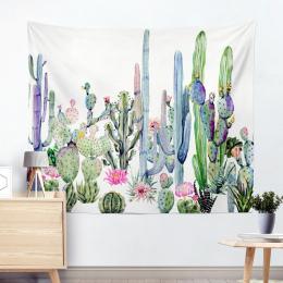 Drop Shipping Kaktus Czeski Mandala Gobelin Krajobraz Akwarela Gobeliny Wiszące Ścienne Tapeta Wall Art Szal Rzut