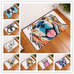 Nowy Styl Kreskówki Piękny Pies Malowanie Psy Druku Dywany Dywany antypoślizgowa Mata Podłogowa Zewnątrz Zwierząt Przednie Drzwi