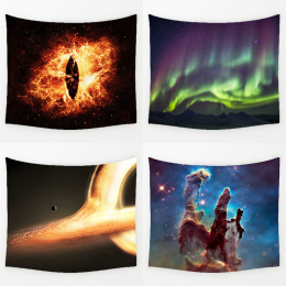 Comwarm Wspaniały Big Bang Nebula Scenerii Trwałe Ściany Wiszące Splendid Aurora Drukowane Gobelin Mata Do Jogi Dywan Home Decor