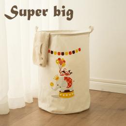 Popularne Trwałe Dzieci Zabawki Kosz Przechowywania Duże Zdolności Składany Brudne Ubrania Kosz Nadziewane Zabawki Organizator W