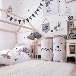 Dzieci Home Rozmaitości Papier Pakowy Worek Do Przechowywania Przechowywania Zabawek Kosz Składany Kosz Na Bieliznę Brudne Ubran