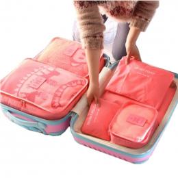 6 SZTUK Zestaw Dla Odzież Tidy Organizator Podróży Worek Do Przechowywania szafa Walizka Przypadku Pouch Bag Organizator Podróży