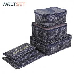 6 sztuk/zestaw Podróży Torby Przenośne Bagażu Organizator Odzież Tidy Organizator Storage Pouch Pakowania Walizka Pralni Bag Sto