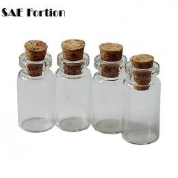 10 sztuk Mini Małe Szklane Butelki z Wyczyść Cork Korek Tiny Fiolki Słoiki Pojemniki 24x12mm Wiadomość Ślubne biżuteria Favor ZH
