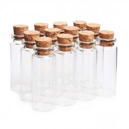 HIPSTEEN 2 sztuk/zestaw 22*55mm 12 ml Szklane Butelki Wishing Butelki Pusty Próbka Słoiki Przechowywania z Korka przezroczysty