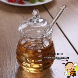 Wysokiej klasy miód jar szkło kryształowe przyprawy butelki szklane mieszanie wstęp 290 ml