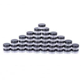 50 sztuk Makijaż Jar Próbki Kosmetyczne Pusty Pojemnik Plastikowe Okrągłe Pokrywą Mała Butelka # H0VH #