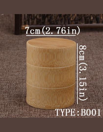 Bambus Przechowywania Butelek Kuchnia Pojemnik Herbata Pole Przypadku Organizator Spice Jar Puszki Okrągłe Czapki Seal Pojemnik