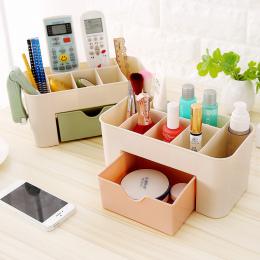 Plastikowe Pudełko Do Przechowywania Makijaż Organizator Skrzynki Szuflady Wyświetlacz Kosmetyczne Bagażu Organizator Biurowe Ro