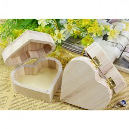 Schowek Serca Kształt Skrzynki Drewniane Pudełko z Biżuterią Prezent Ślubny Kolczyki Pierścień Rangement Tworzą Drewniane Biurko