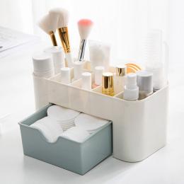 Oszczędność Miejsca Pulpit Typu Box makeup Comestics Makijaż Bagażu Szuflada organizator makijaż organizador escritori