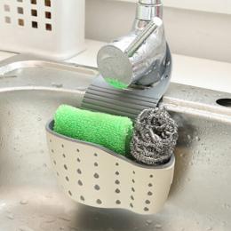 Przydatne Przyssawki Sink Przechowywania Półki Mydło Sucker Stojak Spustowy Kuchnia Gąbka Narzędzie Uchwyt Kitchen Sink Akcesori