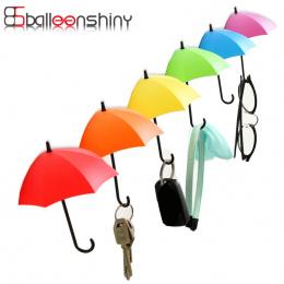 W Kształcie BalleenShiny 3 sztuk/partia Parasol Pień Klucz Hak Wieszak Uchwyt Rack Dekoracyjne Ścienne Kuchnia Organizator Łazie