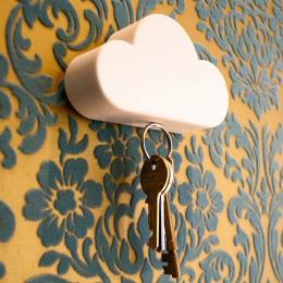 2018 Nowy Kwalifikacje Kreatywny Nowością Domu Przechowywania Uchwyt Biały Chmura Kształt Magnetyczne Magnesy Brelok Hot Sprzeda