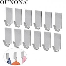 Klej OUNONA 12 sztuk Ze Stali Nierdzewnej Drzwi Hak kuchnia Ręcznik Haki Haki Wieszak Ścienny Haki Ścienne dla Kuchni Łazience