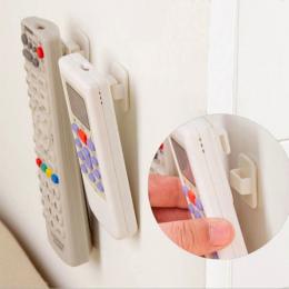 Plastikowe Haki 2 pary (4 sztuk) lepkie Hak Zestaw TV Klimatyzator Pilot Klucz Praktyczne Przechowywania Ściany Uchwyt Silne Wie