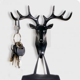 Dekoracje świąteczne ŁOSIE key hook Kreatywny uchwyt ścienny do tie organizator kapelusz/torba/biżuteria rack deer home decor sz