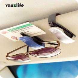 Vanzlife przenośny narzędzie pojazdu okulary klip samochodów rachunki samochodów visor klip posiadacz karty