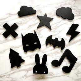 Drewniane lody/Bunny/Bat/broda/Chmury dziecko Dzieci Ubrania Zaczepić Pokój Dekoracje Ścienne Dla Dzieci Hak wieszak na Prezent
