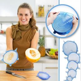 6 sztuk/zestaw Silikonową Pokrywką Zalanie Korek Pokrywa Uniwersalny Silikon Ssania Pokrywką-bowl Pan Kuchnia Narzędzia Pan Pokr