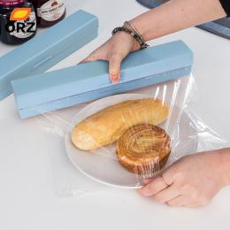ORZ Plastikowe Wrap Dozownik Kuchnia Czepiać Okład Żywności Frez Dozownik Konserwujący Film Cutter Bagażu Holder Akcesoria Kuche