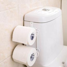 Żelaza 2 Warstwy Rolki Papieru Toaletowego Haki Półki Łazienkowe Wiszące Organizator Kuchnia Szafka Drzwi Uchwyt Na Ręczniki